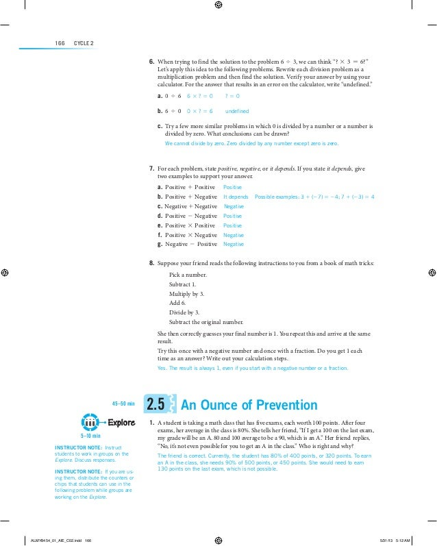 Math Lit Lessons 2.5 & 2.6