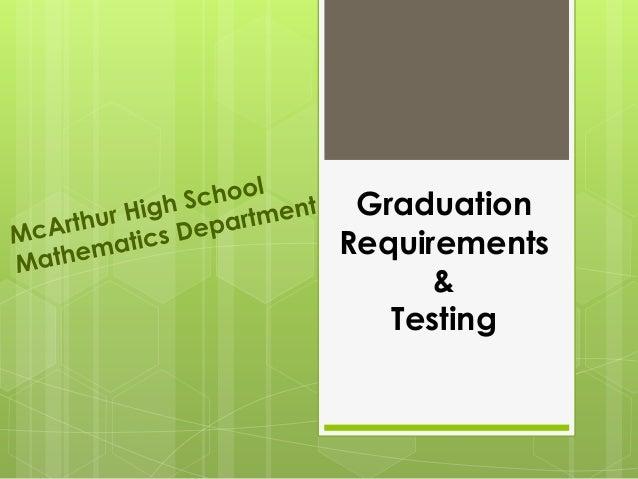 Graduation Requirements & Testing
