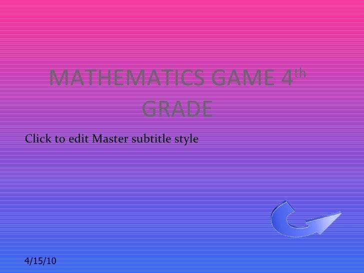 Math powerpoint game