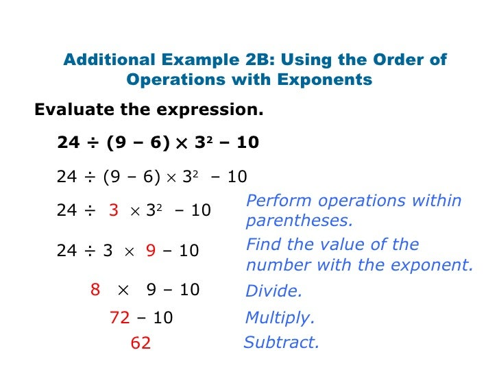 Exponent operations worksheet 1 multiplication answers