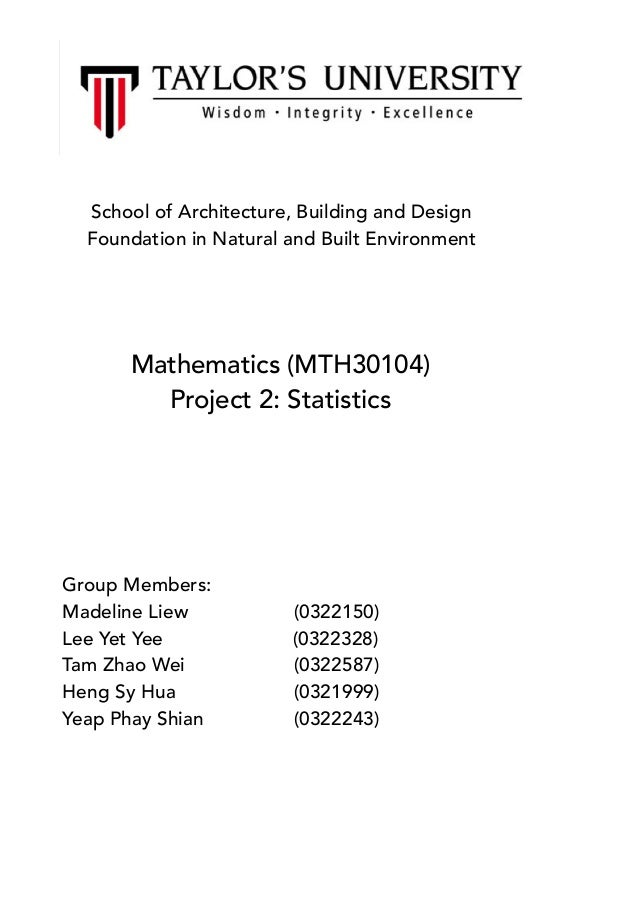 maths statistics project