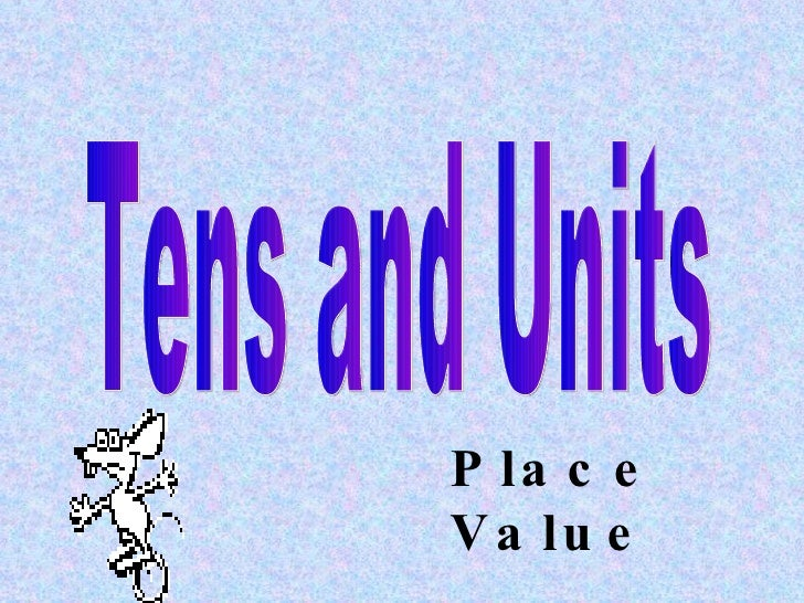 Tens and Units Place Value