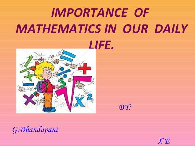 the importance of math in our daily lives