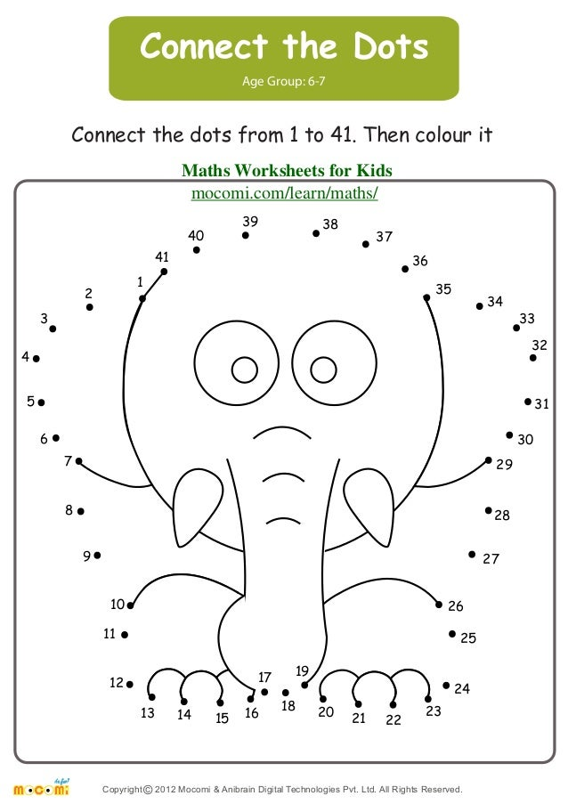 math worksheet : connect the dots  maths worksheets for kids  mo i  : Maths Worksheets 4 Kids