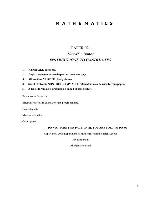 cxc additional math sba Csec examinations, may/june 2017: submission of sba scores, samples   submitted to cxc  01254031 additional mathematics project.