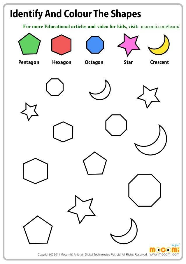 Identify and Colour the Shapes