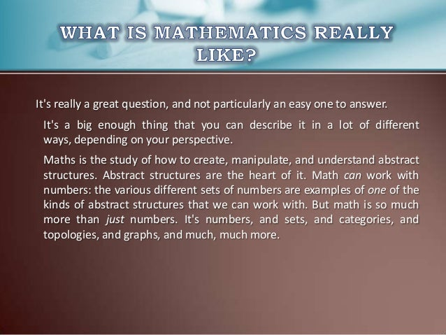 maths mathematics and daily life Leant about the many applications of maths in everyday life including shopping, work and even washing your hair maths in daily life is everywhere.