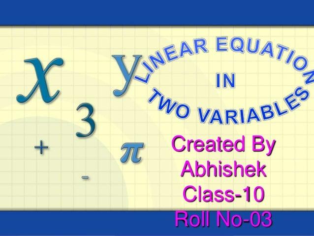 Created By Abhishek Class-10 Roll No-03