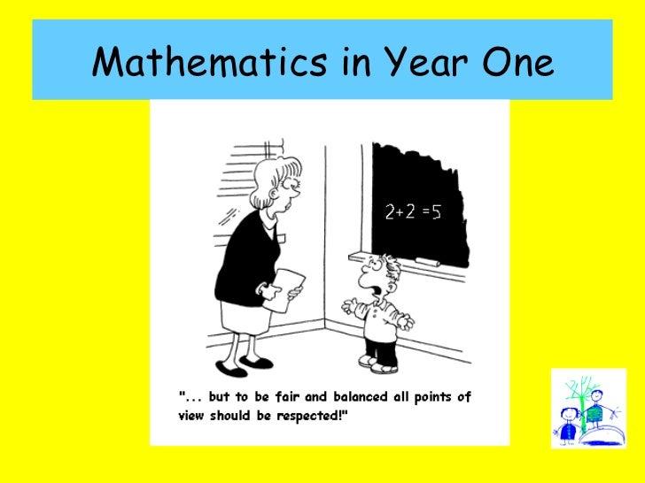 Mathematics in Year One