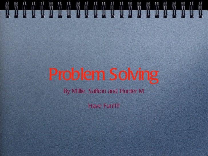 Math's problem saffron milllie