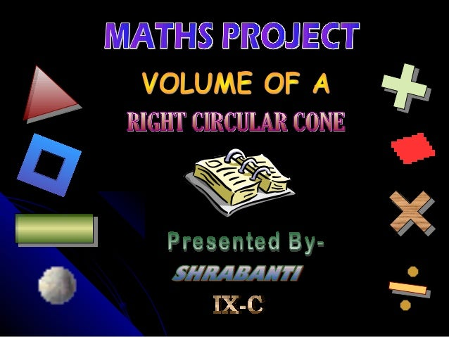Volume of a right circular cone