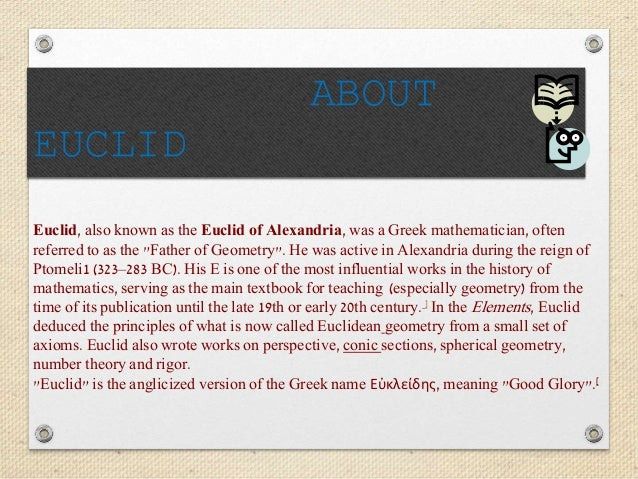 the most influential work of euclid the mathematician