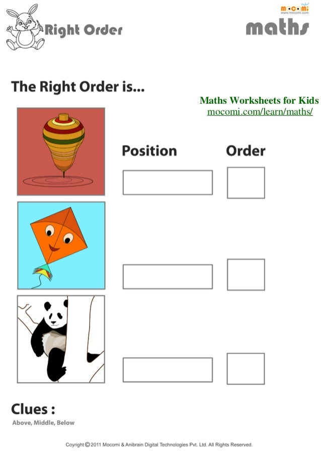 Mo Maths Worksheets : The right order maths worksheets for kids mocomi