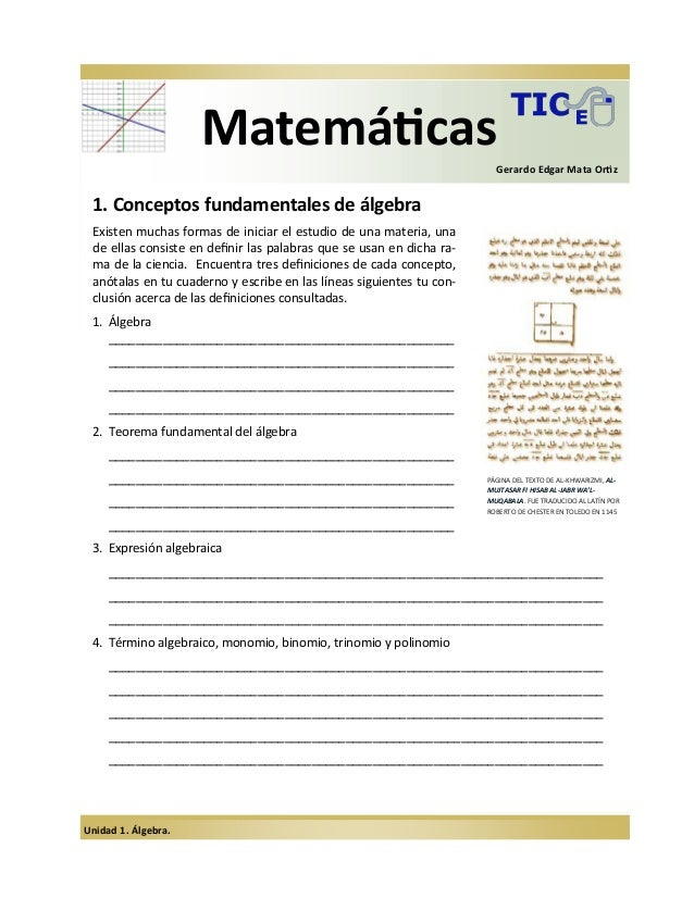 Math u1 algebra