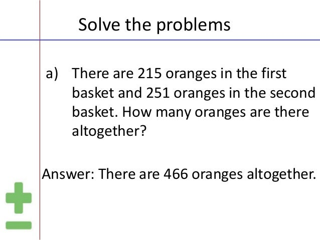 How To Problem Solve In Math