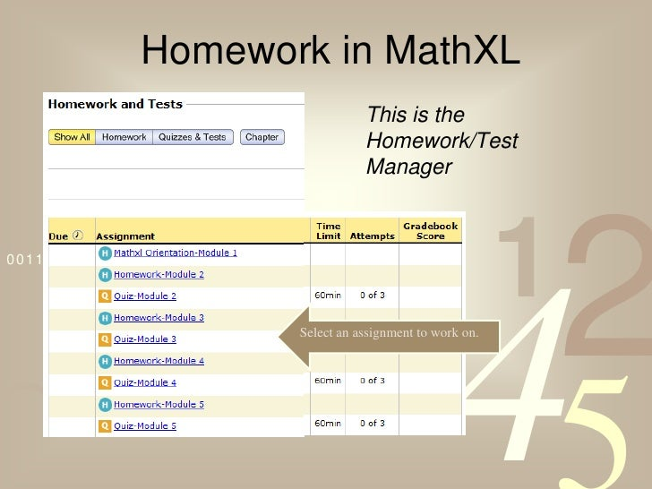 Answers to mathxl homework