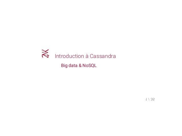 Introduction à Cassandra Big data & NoSQL 1/35