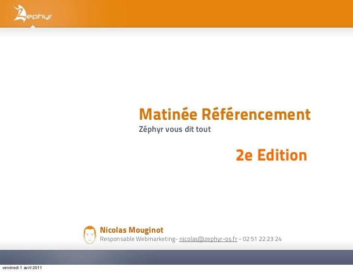 Matinée référencement 2nd Edition