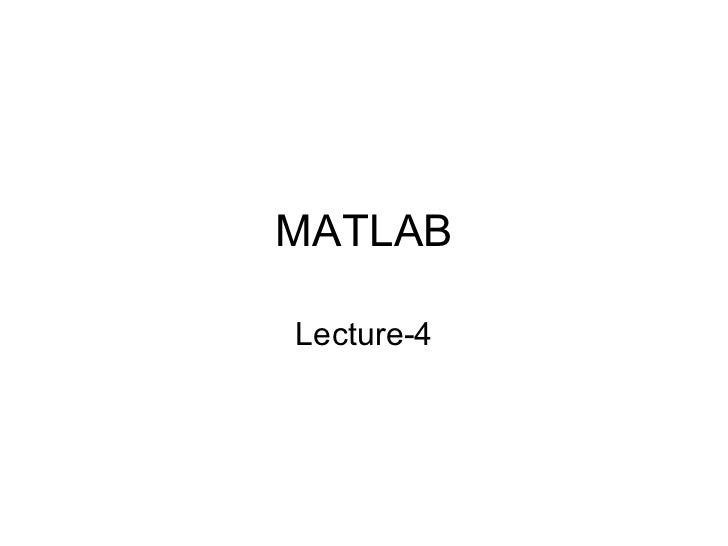 Matlab 4