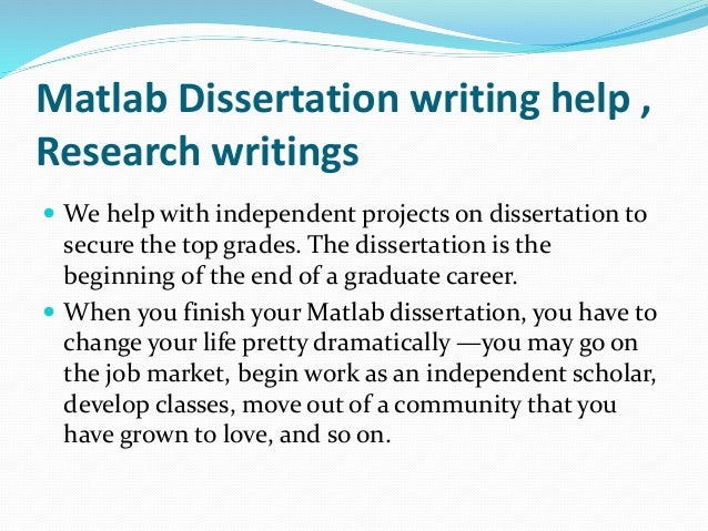 Help With Dissertation