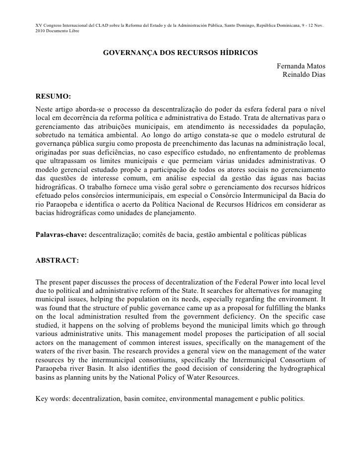 XV Congreso Internacional del CLAD sobre la Reforma del Estado y de la Administración Pública, Santo Domingo, República Do...