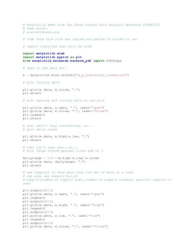 # matplotlib demo from San Diego Python Data Analysis Workshop 20APR2013# Drew Arnett# a.arnett@ieee.org# code from this f...