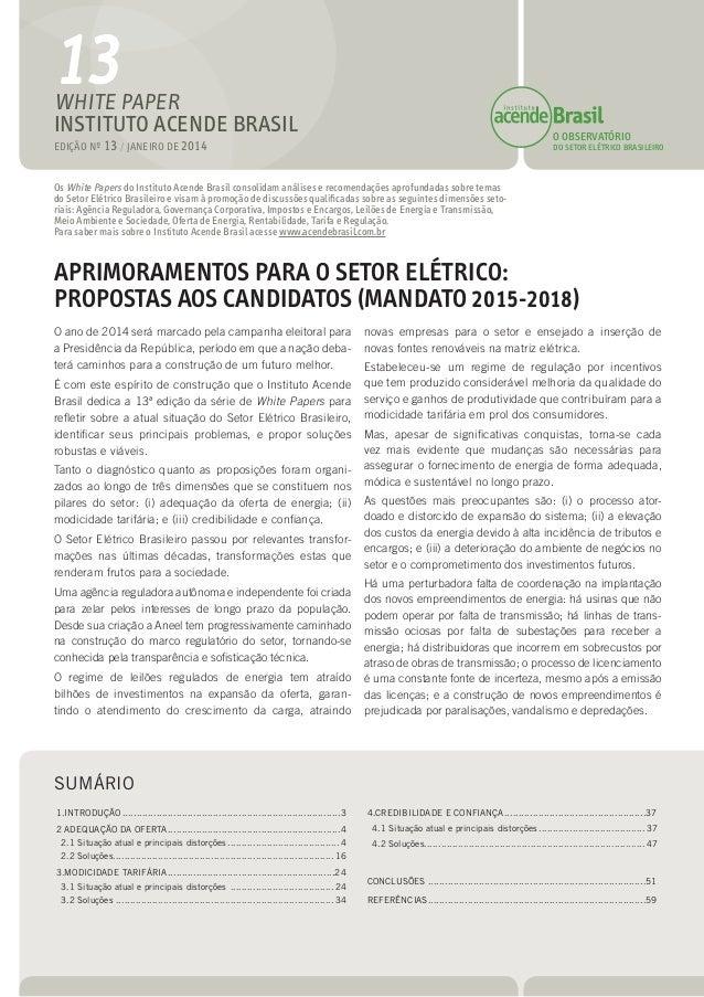 Propostas do Instituto Acende Brasil
