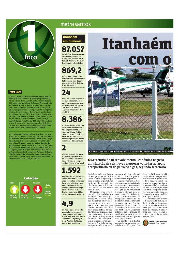 Matéria jornal Metro 11 de julho