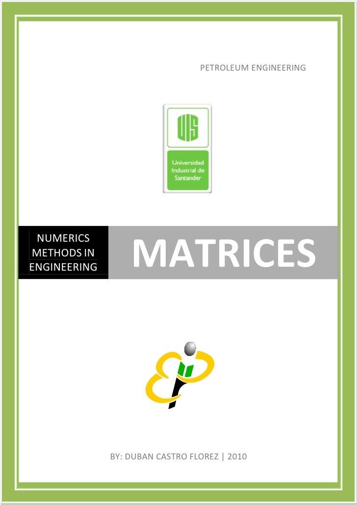 Matrices pdf