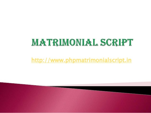 http://www.phpmatrimonialscript.in