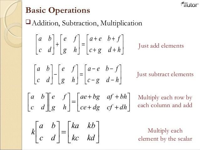 Operations Worksheet Sharebrowse – Matrix Operations Worksheet