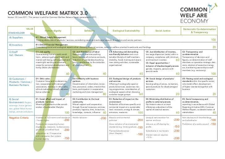 COMMONCommon Welfare MATRIX 3.0                                                                                           ...