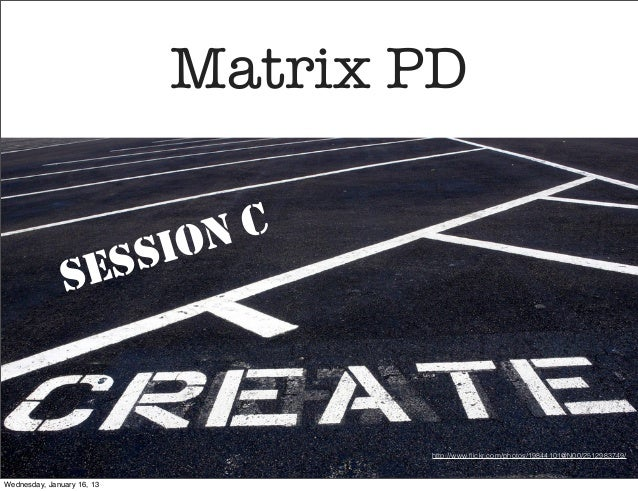 Create IT C Matrix PD