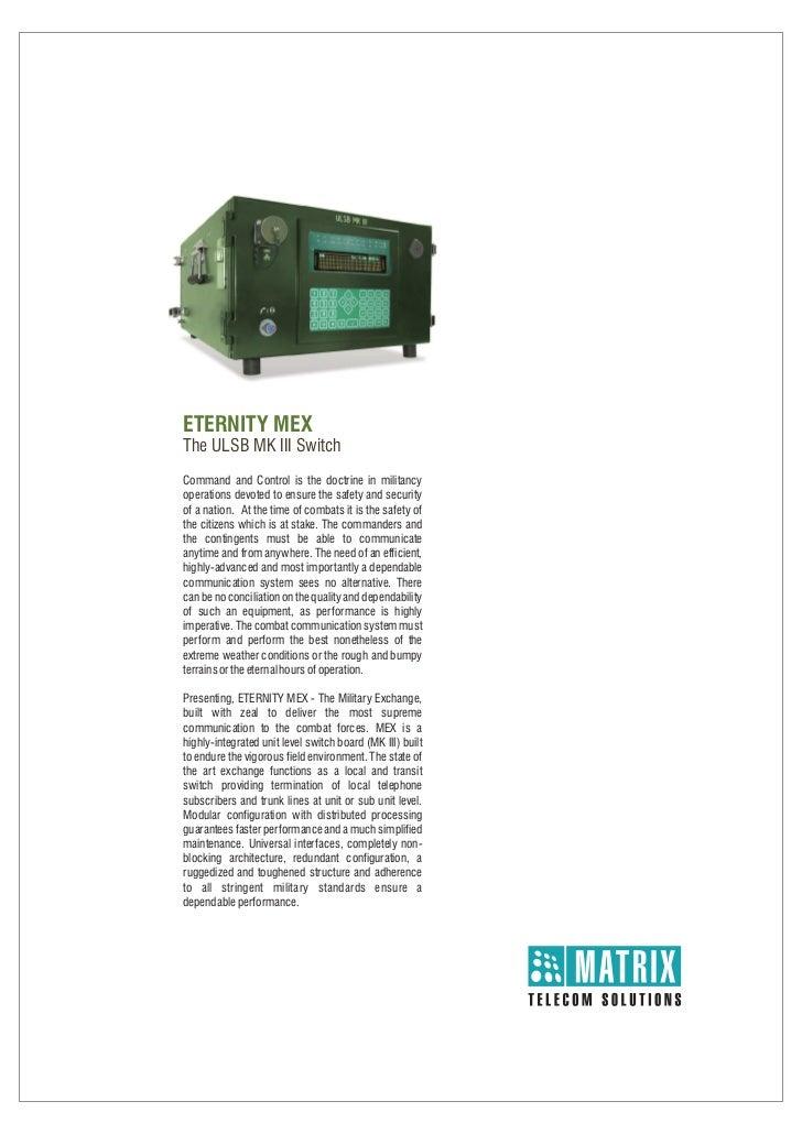 Matrix  eternity mex brochure