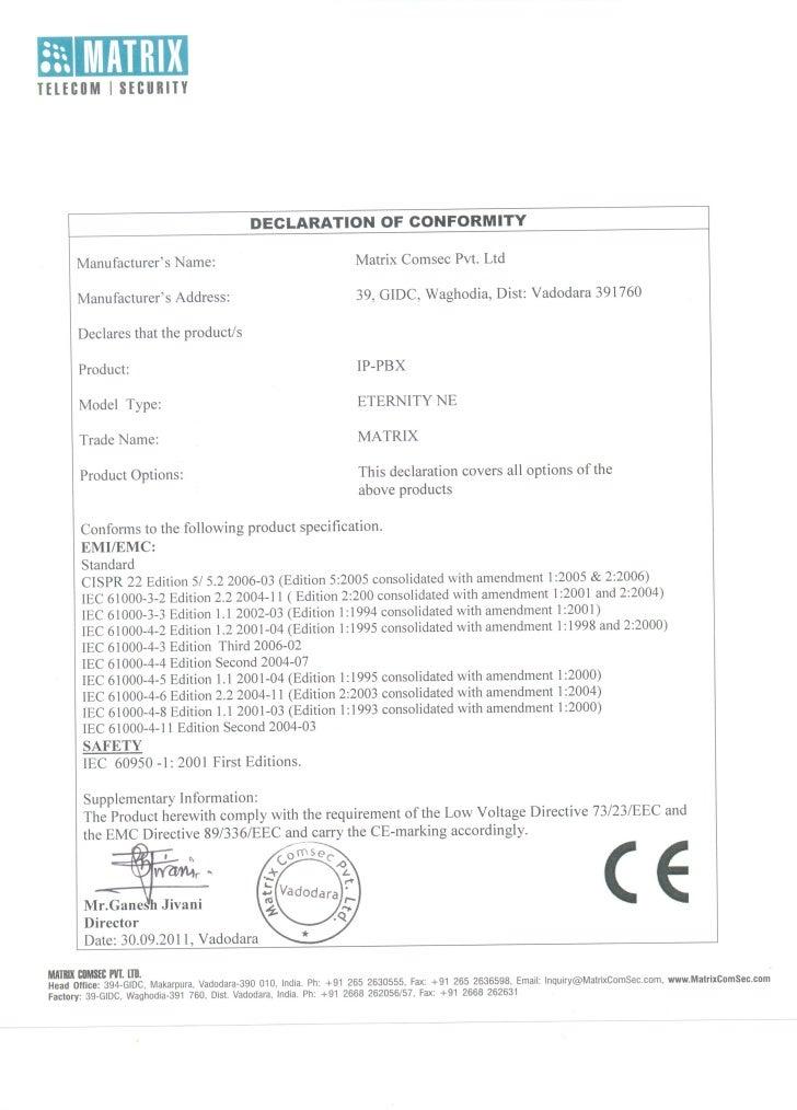 Matrix eternity ne ce_certificate