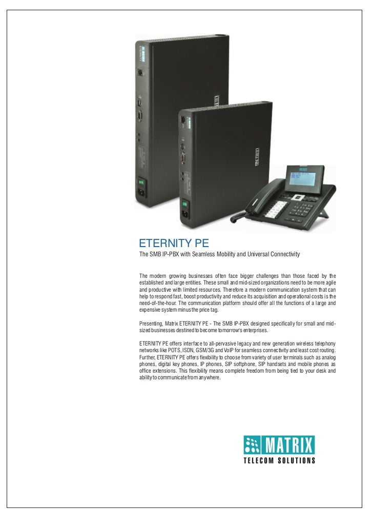 Matrix eternity pe brochure