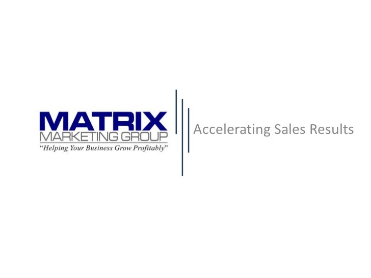 Accelerating Sales Results