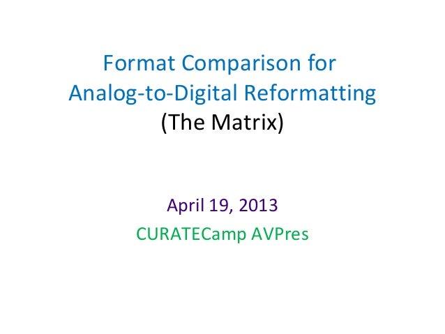 Matrix presentation curatecamp_04192013
