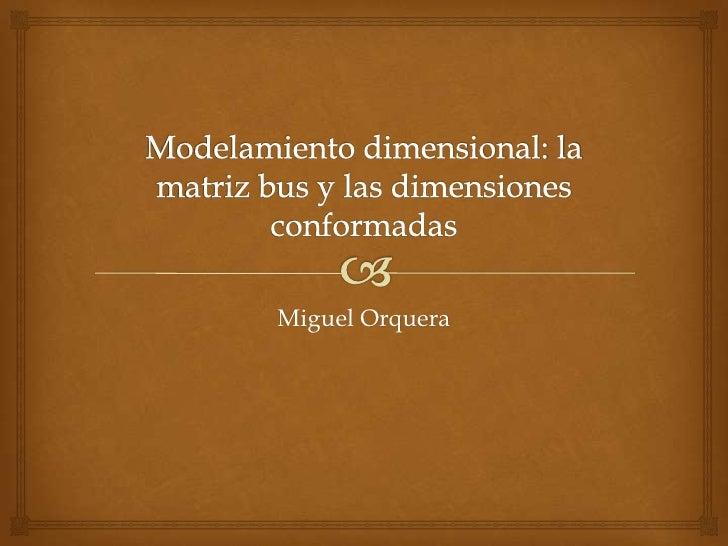 Matriz bus y dimensiones