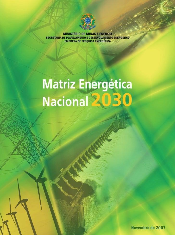 Matriz energeticanacional2030