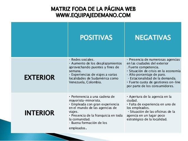 Matriz foda gestion for Sitio web ministerio del interior