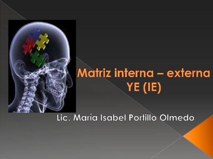 Matriz Interna – Externa