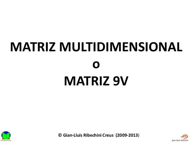 Matriz multidimensional 9 v