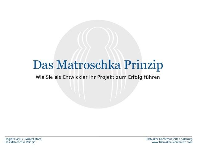 Das Matroschka Prinzip Wie Sie als Entwickler Ihr Projekt zum Erfolg führen  Holger Darjus · Marcel Moré Das Matroschka Pr...