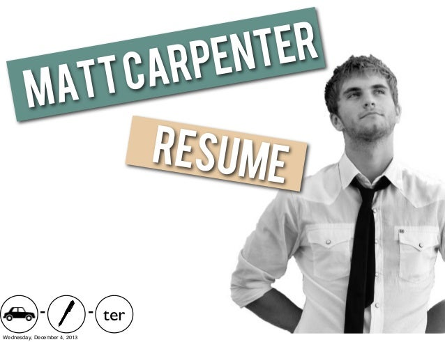 Matt Carpenter Visual Resume