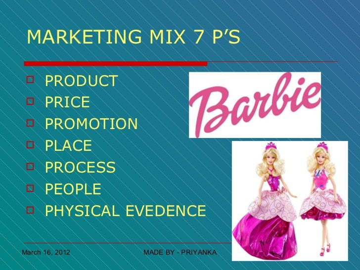 mattel marketing mix The toy industry: mattel and hasbro print reference this  no longer did the company have to appeal to the parent by marketing educational or career-minded.