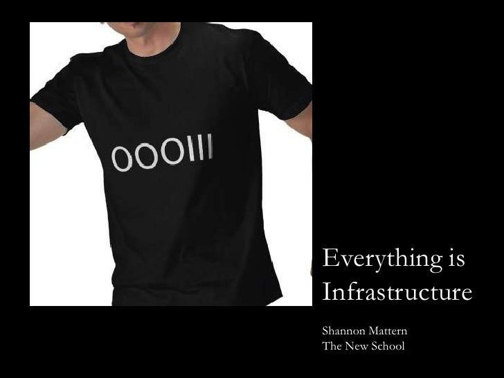 Everything is Infrastructure<br />Shannon Mattern<br />The New School <br />
