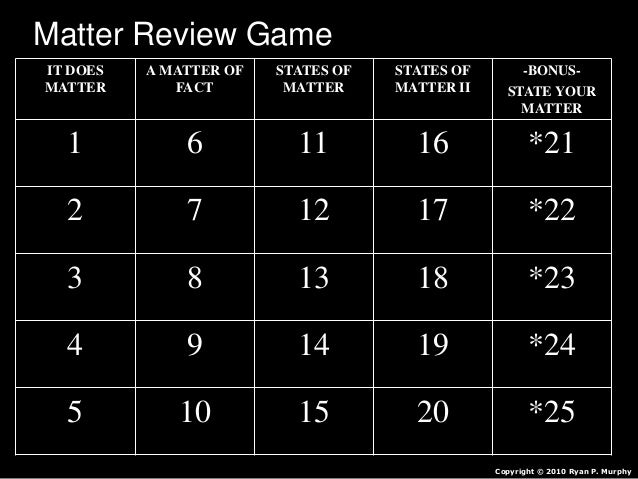states of matter quiz pdf