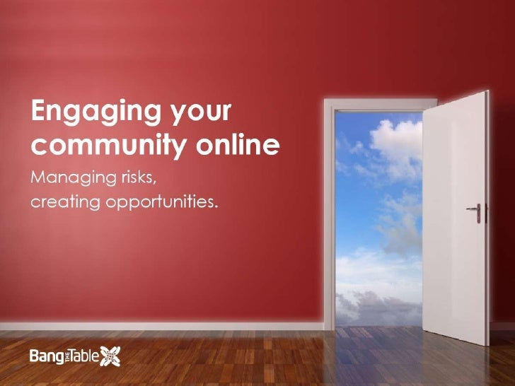 Managing Risk in Online Community Engagement