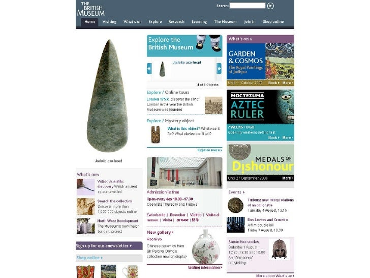 British Museum website case study by Matthew Cock - Culture24 Lets Get Real conference